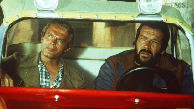 Die beiden schlagkräftigen Haudegen Kid (Terence Hill, l.) und Ben (Bud Spenc...
