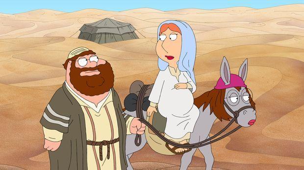 Peter erzählt seine ganz eigene Weihnachtsgeschichte mit ihm als Josef (l.) u...