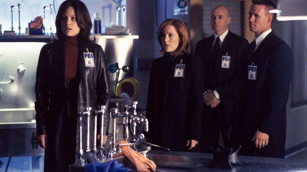Reyes (Annabeth Gish, l.) erreicht ein anonymer Hinweis auf einen mysteriösen...