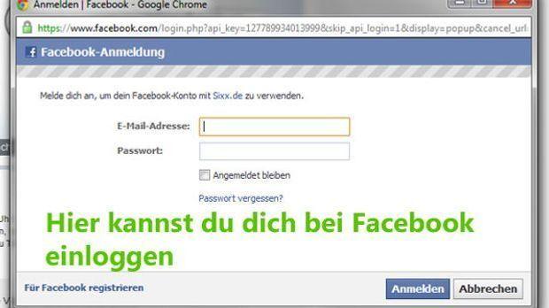 Facebook-Einloggen-Screen
