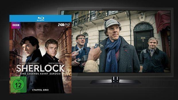Sherlock - Season 3 Blu-ray Cover & Szene