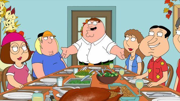 Die Griffins wollen mit der Familie und Freunden Thanksgiving feiern ... © 20...
