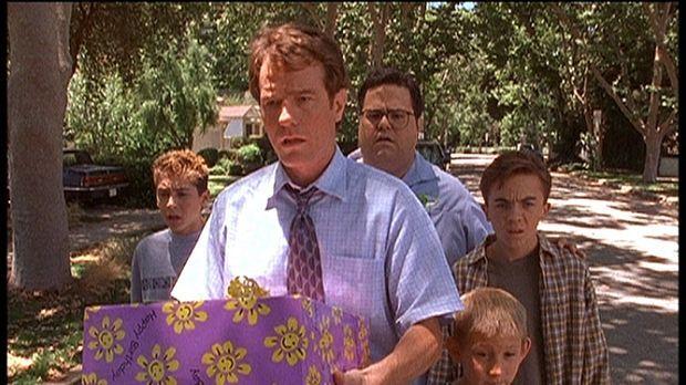 (v.l.n.r.) Reese (Justin Berfield), Hal (Bryan Cranston), Craig (David Higgin...