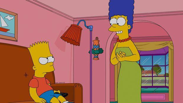 Während Homer seine letzten zwei Haare verliert, wird Bart (l.) gegen seinen...