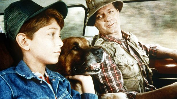 Gemeinsam mit ihrem Hund Boomer wollen Harvey (Jim Edgcomb, r.) und Larry (Ma...