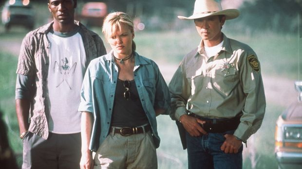 Der Tierexperte Jimmy (Léon, l.), die Zoologin Sheila (Dina Meyer, M.) und Sh...