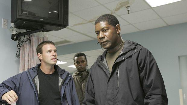 Ein Wettlauf mit der Zeit beginnt: Bob (Scott Foley, l.), Jonas (Dennis Haysb...