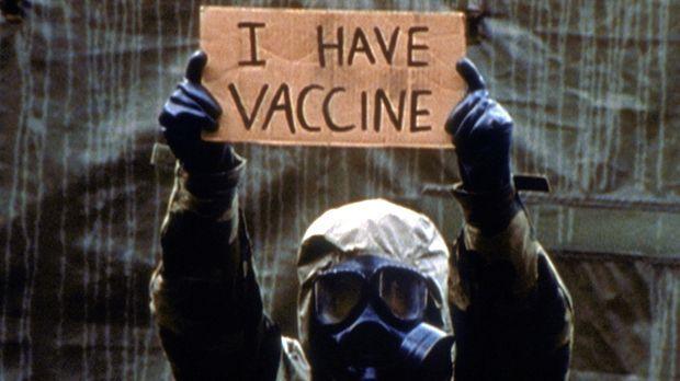 Für die in der Quarantänestation festsitzenden Überlebenden einer Virus-Epide...