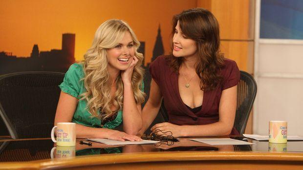 Ted hat einen netten Abend mit Becky (Laura Bell Bundy, l.) verbracht. Robin...