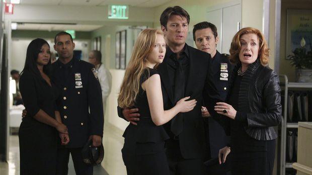 Machen sich große Sorgen um Kate Beckett, auf die ein Mordanschlag verübt wur...
