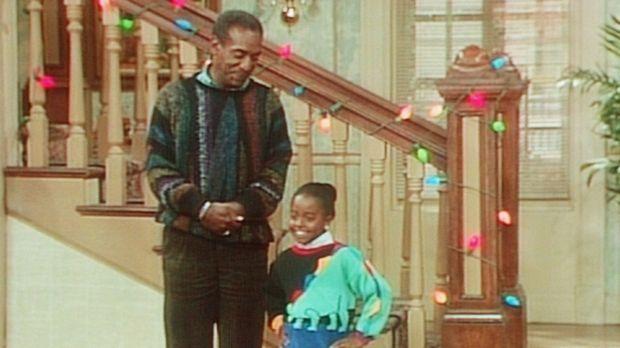 Modenschau im Hause Huxtable: Cliff (Bill Cosby, l.) präsentiert das herbstli...