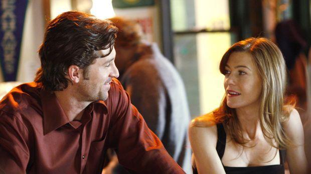 Derek (Patrick Dempsey, l.) gesteht Meredith (Ellen Pompeo, r.) seine Liebe u...
