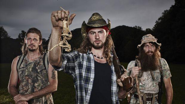 Bei ihnen dreht sich alles nur um Ginseng: Landbesitzer Mike Ross (Mitte) und...