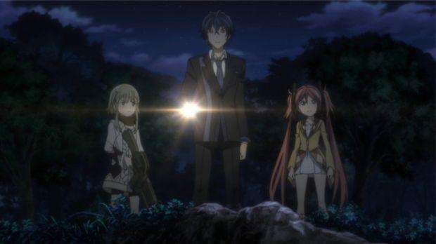 Was ist das? Senju (l.), Rentaro (M.) und Senju (r.) machen eine Entdeckung....