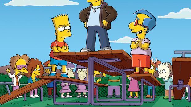 Bart (l.) hat Konkurrenz bekommen: Donny (M.) ist plötzlich der coolste Junge...