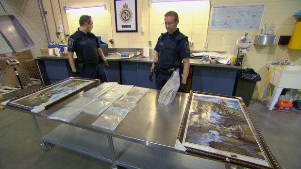 Die Arbeit der Grenzbeamten bei ihrer täglichen Arbeit beim Zoll ist nicht im...